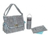 Kalencom Fashion Wickeltasche Heavenly Dots Chocolate Blue