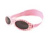 Kidz Banz Kinder-Sonnenbrille APG Adventure, mit Halteband, Pinkes Vichy-Muster