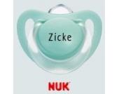 Nuk Starlight Namensschnuller - Schnuller mit Namen - 3 Stück - Latex - Gr 2 - grün