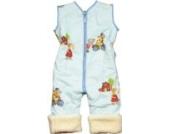 Babies & Kids - Öko-Schlafoverall Spielplatz hellblau Baumwollplüsch, Größe:100 cm (3-4 Jahre)