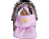 Schlafsack/ Kuschelsack/ Fußsack von Spring in der Farbe Rosa