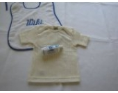 Cosilana Baby-Schlupfhemd kurzarm Seide/Wolle-Baumwolle mit Feinwaschmittel von Wiki-Naturwaren, 98/104, natur