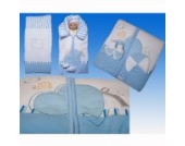 3-tlg. Luxus Decken- Set aus Nicki, Farbe:Blau