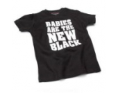 Babies Are the new – Schwarz (Black) Baby Tee Shirt, 6 – 12 Monate