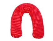 Sugarapple Stillkissen Seitenschläferkissen mit Mikroperlen Füllung, Kissen Bezug 100% Baumwolle, ideal als Lagerungskissen oder Schwangerschaftskissen, 180 x 34 cm, rot mit weißen Sternen
