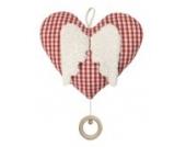 Efie Spieluhr Herz mit Flügeln, Material aus kontrolliert biologischem Anbau, 100% Made in Germany seit über 60 Jahren