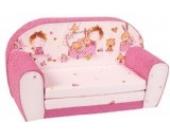 knorr-baby 430167 Kindersofa zum Ausklappen Spielzimmer, pink