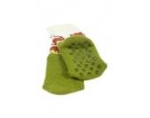 Weri Spezials Baby ABS Voll Frotee Kleiner Leopard Socke in Gruen Gr.15-16 (3-6 Monate)