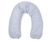 Sugarapple Stillkissen Seitenschläferkissen mit Mikroperlen Füllung, Kissen Bezug 100% Baumwolle, ideal als Lagerungskissen oder Schwangerschaftskissen, 180 x 34 cm, Streifen dunkelblau