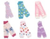 6× Baby Socken Cotton Leggings Kinder Knieschützer Mädchen Jungen Legs Beinstulpen