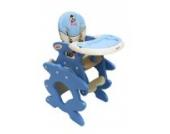Babyhochstuhl Kinderhochstuhl ARTI Betty J-D008 Hund Doggy Blau Coffe Baby Kinder Hochstuhl Kombihochstuhl Tisch und Stuhl