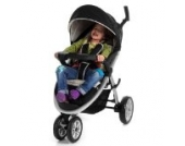 Froggy CITYBUG Safari Kinderwagen Buggy Schwarz / Beige mit Multipositions-Mechanik