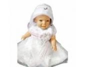 Sommer Taufkleid sommerliches Kleid Taufkleider Baby Babies für Taufe Hochzeit Feste, Größe 68 74 Y11A