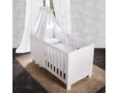 8-tlg. Bettsetpaket Sleeping Bear in weiß inkl. Schlafsack, Babybettdecke und Kissen