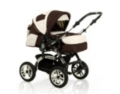15 teiliges Qualitäts-Kinderwagenset 2 in 1 CITY DRIVER: Kinderwagen + Buggy - all inclusive Paket in Farbe GRAU-ROSA