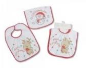 2x Baby-Lätzchen im Doppelpack Elch und Schneemann Weihnachten Nikolaus Geschenk Zwillinge Zwillingskleidung