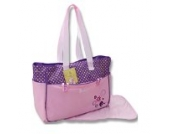 2 tlg Baby Farbe rosa lila Wickeltasche Pflegetasche Windeltasche Babytasche Reise Farbauswahl