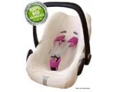 ByBoom® - Sommerbezug, Schonbezug für Babyschale aus 100% BIO Baumwoll-Frottee für z.B. Maxi-Cosi, CabrioFix, Pebble, City SPS, Farbe:Ecru